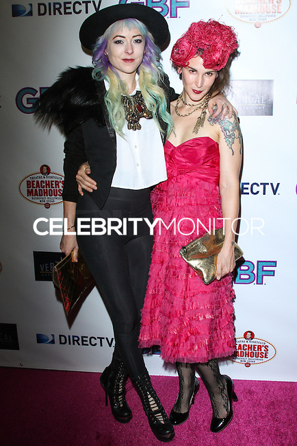 """HOLLYWOOD, CA - NOVEMBER 19: Kit Scarbo, Kat Turner arriving at the """"G.B.F."""" Los Angeles Premiere held at the Chinese 6 Theater Hollywood on November 19, 2013 in Hollywood, California. (Photo by David Acosta/Celebrity Monitor)"""