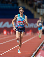 middle distance runner Adam CLARKE of GBR in the Walk (1000m) vs Run (1400m) race during the Muller Grand Prix Birmingham Athletics at Alexandra Stadium, Birmingham, England on 20 August 2017. Photo by Andy Rowland.