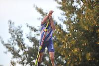 FIERLJEPPEN: IT HEIDENSKIP: 14-08-2013, 1e Klas wedstrijd, Senioren Topklasse, winnaar Bart Helmholt 20,28m, ©foto Martin de Jong
