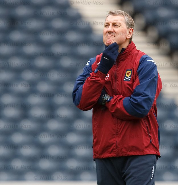 Terry Butcher rubbing his chin in thought
