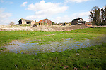 Dew pond traditional method used for water collection and storage, Ramsholt, Suffolk, England