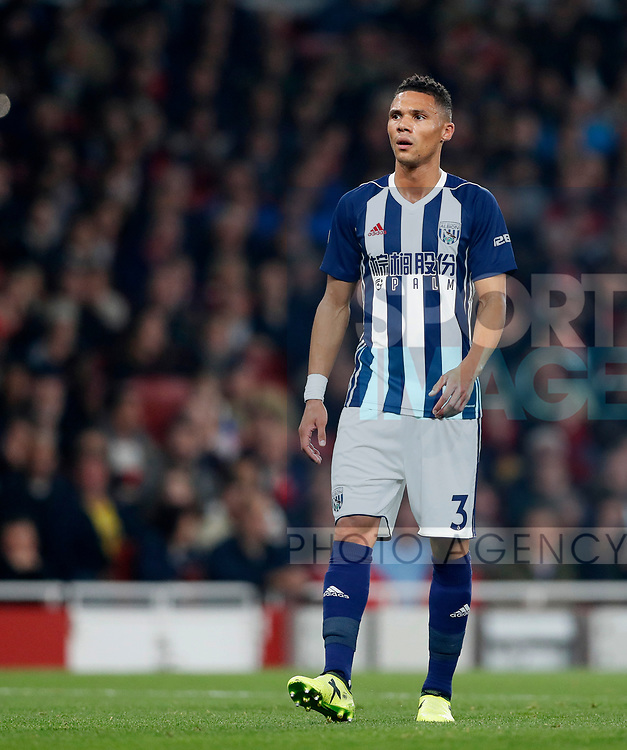 West Brom's Kieran Gibbs in action during the premier league match at the Emirates Stadium, London. Picture date 25th September 2017. Picture credit should read: David Klein/Sportimage
