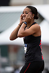 EUGENE, OR - JUNE 10: Kendell Williams of the University of Georgia reacts to a throw in the javelin as part of the Heptathlon during the Division I Women's Outdoor Track & Field Championship held at Hayward Field on June 10, 2017 in Eugene, Oregon. (Photo by Jamie Schwaberow/NCAA Photos via Getty Images)