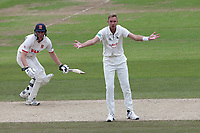 Frustration for Stuart Broad of Nottinghamshire during Nottinghamshire CCC vs Essex CCC, Specsavers County Championship Division 1 Cricket at Trent Bridge on 1st July 2019