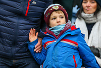 A young Burnley fan enjoys pre match atmosphere<br /> <br /> Photographer Alex Dodd/CameraSport<br /> <br /> The Premier League - Burnley v Fulham - Saturday 12th January 2019 - Turf Moor - Burnley<br /> <br /> World Copyright © 2019 CameraSport. All rights reserved. 43 Linden Ave. Countesthorpe. Leicester. England. LE8 5PG - Tel: +44 (0) 116 277 4147 - admin@camerasport.com - www.camerasport.com