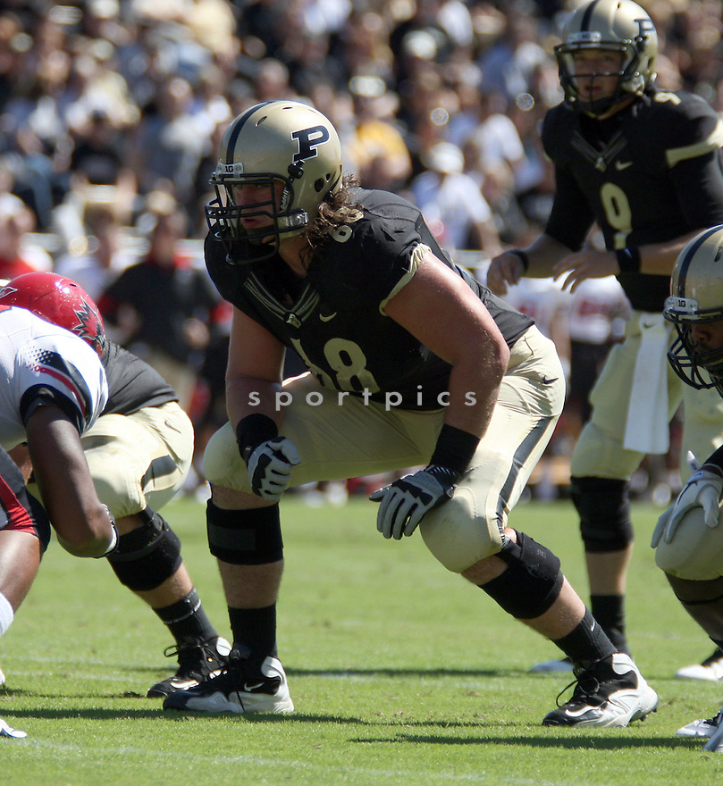 DENNIS KELLY, of the Purdue Boilermakers, in action during Purdue's game against Southeast Missouri State on September 17, 2011 at Ross Ade Stadium in West Lafayette IN. Purdue beat Southeast Missouri 59-0.