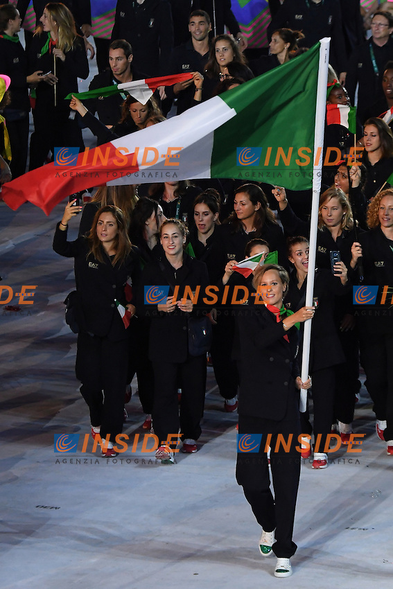 Federica Pellegrini Italia <br /> Rio de Janeiro 05-08-2016 Maracana Stadium <br /> Olympic Games Opening Ceremony <br /> Cerimonia di Apertura Olimpiadi Rio 2016 <br /> Foto Andrea Staccioli/Deepbluemedia/Insidefoto