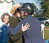 25.03.2017; Gatcombe, UK: PRINCESS ANNE KISSES DAUGHTER ZARA TINDALL<br />