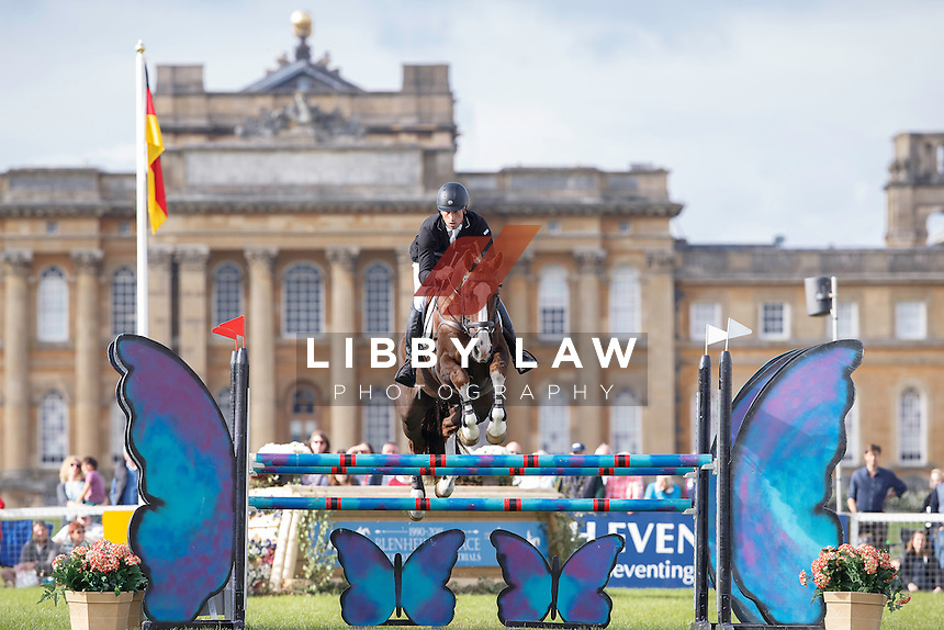 NZL-Tim Price (THE COURT JESTER) FINAL-5TH: CCI3* SHOWJUMPING: 2015 GBR-Blenheim Palace International Horse Trial (Sunday 20 September) CREDIT: Libby Law COPYRIGHT: LIBBY LAW PHOTOGRAPHY