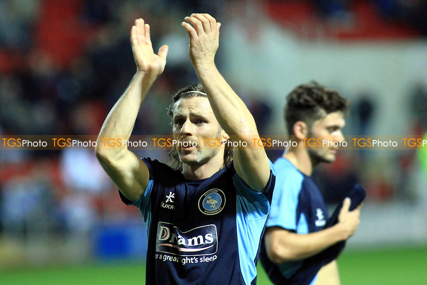 Player/Manager Gareth Ainsworth applauds the Wycombe fans prior to kick-off - Rotherham United vs Wycombe Wanderers - NPower League Two Football at The New York Stadium, Rotherham, South Yorkshire - 20/11/12 - MANDATORY CREDIT: Paul Dennis/TGSPHOTO - Self billing applies where appropriate - 0845 094 6026 - contact@tgsphoto.co.uk - NO UNPAID USE.