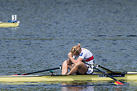 Sarasota. Florida USA.  GER W1X. Annekatrin THIELE, Semi Final A/B. Fails to qualify for the A Final. 2017 World Rowing Championships, Nathan Benderson Park<br /> <br /> Friday  29.09.17   <br /> <br /> [Mandatory Credit. Peter SPURRIER/Intersport Images].<br /> <br /> <br /> NIKON CORPORATION -  NIKON D500  lens  VR 500mm f/4G IF-ED mm. 200 ISO 1/800/sec. f 8