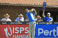 James Nittles (AUS) in action on the 1st during Round 3 of the ISPS Handa World Super 6 Perth at Lake Karrinyup Country Club on the Saturday 10th February 2018.<br /> Picture:  Thos Caffrey / www.golffile.ie<br /> <br /> All photo usage must carry mandatory copyright credit (&copy; Golffile | Thos Caffrey)