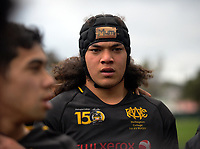 Naitoa Ah Kuoi during the Weltec Premiership Wellington secondary schools 1st XV rugby final between St Patrick's College Silverstream and Wellington College at Porirua Park in Wellington, New Zealand on Sunday, 20 August 2017. Photo: Dave Lintott / lintottphoto.co.nz