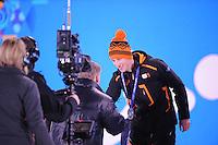 OLYMPICS: SOCHI: Medal Plaza, 09-02-2014, medaille uitreiking, 5000m Men, Jan Dijkema (ISU), Jan Blokhuijsen (NED), ©foto Martin de Jong