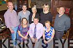 60th birthday celebrations last Friday night for Sean O'Connor(centre)  from Knocknasna pictured here with family and friends in Leen's Hotel, Abbeyfeale. F l-r: Lorraine Naughton, Sean and Kathleen O'Connor. B l-r: Paudie Naughton, John Maurice O'Connor, Lorraine McCarthy, Julie and Kevin O'Connor.
