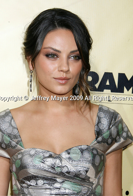 """HOLLYWOOD, CA. - August 24: Mila Kunis arrives at the Los Angeles premiere of """"Extract"""" at the ArcLight Hollywood on August 24, 2009 in Hollywood, California."""