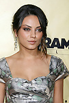 "HOLLYWOOD, CA. - August 24: Mila Kunis arrives at the Los Angeles premiere of ""Extract"" at the ArcLight Hollywood on August 24, 2009 in Hollywood, California."
