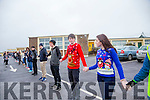 At the St Joseph's Secondary School Ballybunion, Human Chain fundraiser Suicide  event on Friday