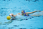 INDIANAPOLIS, IN - MAY 14: Maggie Steffens (9) of Stanford University is guarded by Alys Williams (2) of UCLA during the Division I Women's Water Polo Championship held at the IU Natatorium-IUPUI Campus on May 14, 2017 in Indianapolis, Indiana. Stanford edges UCLA, 8-7, to win fifth women's water polo title in the past seven years. (Photo by Joe Robbins/NCAA Photos/NCAA Photos via Getty Images)