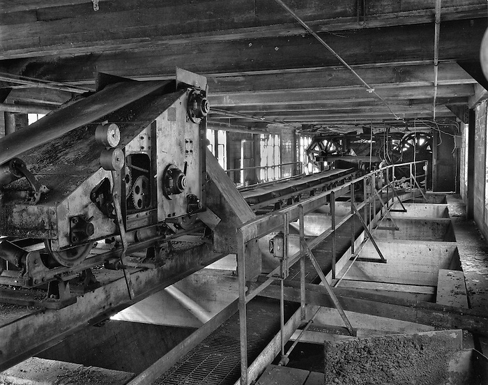 The coal conveyor belt at the Letchworth Mental Institution's Power Plant