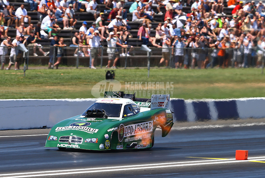 Jun. 1, 2013; Englishtown, NJ, USA: NHRA funny car driver Jeff Arend during qualifying for the Summer Nationals at Raceway Park. Mandatory Credit: Mark J. Rebilas-