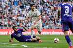 Real Madrid's Marco Asensio and Real Club Celta de Vigo's Wesley Hoedt during La Liga match between Real Madrid and Real Club Celta de Vigo at Santiago Bernabeu Stadium in Madrid, Spain. March 16, 2019. (ALTERPHOTOS/A. Perez Meca)