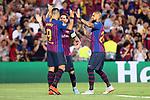 UEFA Champions League 2018/2019 - Matchday 1.<br /> FC Barcelona vs PSV Eindhoven: 4-0.<br /> Luis Suarez, Lionel Messi &amp; Arturo Vidal.