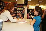 A fan meets Melissa Gilbert who is the author of the new book Prairie Tale on June 9, 2009 at Borders, New York City, NY. where she talked about herself and answered questions. - Photo by Sue Coflin/Max Photos
