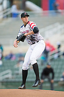 Kannapolis Intimidators starting pitcher Alec Hansen (30) in action against the Asheville Tourists at Kannapolis Intimidators Stadium on May 5, 2017 in Kannapolis, North Carolina.  The Tourists defeated the Intimidators 5-1.  (Brian Westerholt/Four Seam Images)