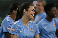 Piscataway, NJ - Sunday Sept. 25, 2016: Kelley O'Hara during a regular season National Women's Soccer League (NWSL) match between Sky Blue FC and the Portland Thorns FC at Yurcak Field.