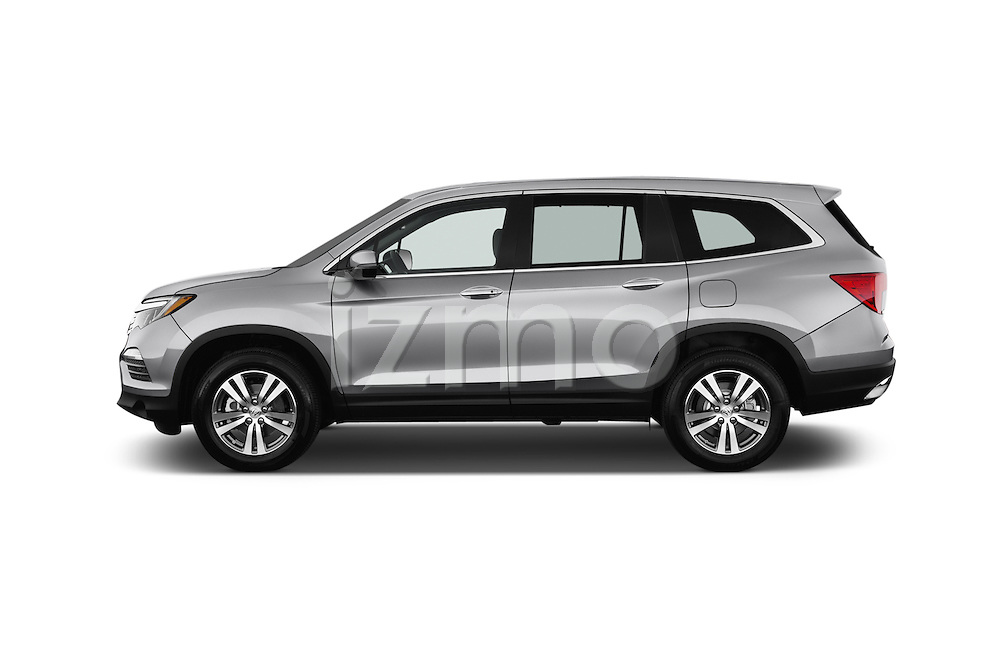 Car Driver side profile view of a 2018 Honda Pilot EX-L 5 Door Suv Side View