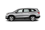 Car Driver side profile view of a 2016 Honda Pilot EX-L 5 Door Suv Side View