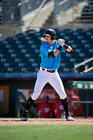 Miami Marlins Sean Reynolds (30) at bat during an Instructional League game against the Washington Nationals on September 25, 2019 at Roger Dean Chevrolet Stadium in Jupiter, Florida.  (Mike Janes/Four Seam Images)