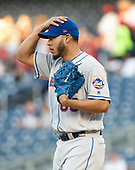 New York Mets starting pitcher Wilmer Font (68) reacts as he works in the first inning against the Washington Nationals at Nationals Park in Washington, D.C. on Wednesday, May 15, 2019.<br /> Credit: Ron Sachs / CNP<br /> (RESTRICTION: NO New York or New Jersey Newspapers or newspapers within a 75 mile radius of New York City)