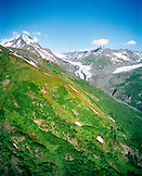 USA, Alaska, aerial view of the Chugach Mountains in Chugach State Park