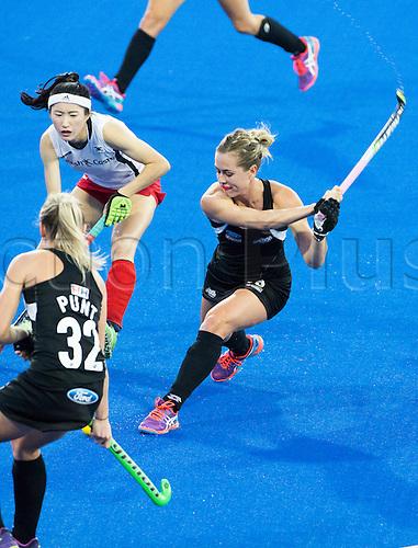 07.04.2016. Unison Hockey Turf, Hastings, New Zealand. Festival of Hockey New Zealand versus Korea. New Zealand's Samantha Charlton in action.