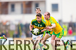 Jonathan Lyne Kerry in action against Neil Gallagher Donegal in Division One of the National Football League at Austin Stack Park Tralee on Sunday.