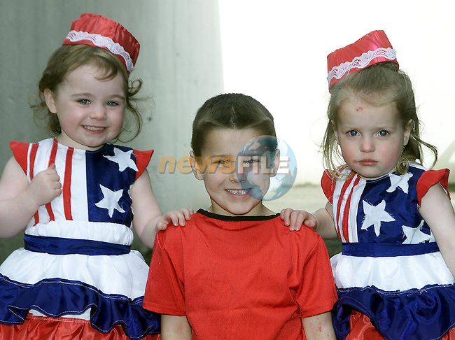 Sinead Kennedy, 5 Oaks and Adam and Beth Sheridan from Termonfeckin who are taking part in the Childrens Variety Show in the Parochial Centre..Picture Paul Mohan Newsfile