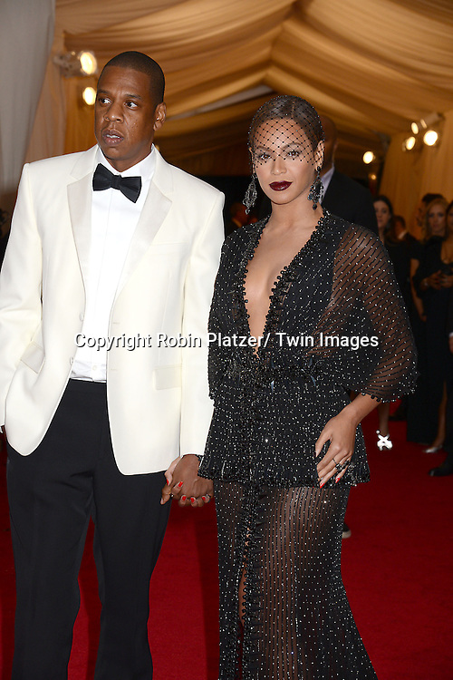 Jay Z and Beyonce Knowles attend the Costume Institute Benefit on May 5, 2014 at the Metropolitan Museum of Art in New York City, NY, USA. The gala celebrated the opening of Charles James: Beyond Fashion and the new Anna Wintour Costume Center.