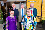 Pictured at the Knocktoosh School Reunion held at the Devon Inn Hotel on Sunday was back row L-R: Gerard Buckley, Newmarket, Con Brosnan, Knocktoosh, Kevin O'Sullivan, Newmarket. front row L-R Joan O'Flynn and Margaret O'Callaghan, Knocktoosh.