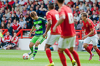 NOTTINGHAM, ENGLAND - JULY 25:  Ki Sung-Yueng of Swansea City in action prior to the pre season friendly match between Nottingham Forest and Swansea City at The City Ground on July 25, 2015 in Nottingham, England.  (Photo by Aled Llywelyn / Athena Pictures )