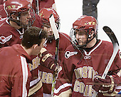 Tim McFeely, Andrew Orpik, Pat Gannon, Matt Greene - The Boston College Eagles defeated the Miami University Redhawks 5-0 in their Northeast Regional Semi-Final matchup on Friday, March 24, 2006, at the DCU Center in Worcester, MA.