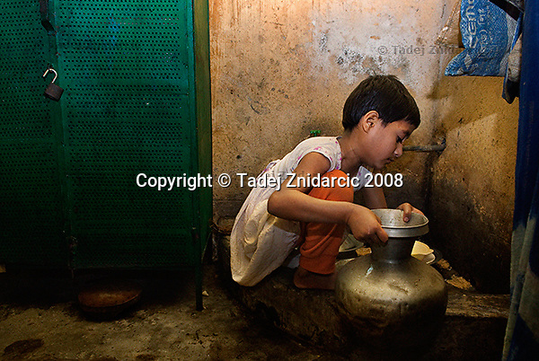 Fahima works in the kitchen of the family where she works and lives as a domestic worker.