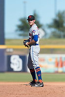 Scottsdale Scorpions relief pitcher Stephen Nogosek (29), of the New York Mets organization, gets ready to deliver a pitch during an Arizona Fall League game against the Peoria Javelinas at Peoria Sports Complex on October 18, 2018 in Peoria, Arizona. Scottsdale defeated Peoria 8-0. (Zachary Lucy/Four Seam Images)