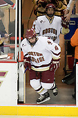 Brett Motherwell (BC - 8), Nathan Gerbe (BC - 9) - The Boston College Eagles defeated the visiting Northeastern University Huskies 7-1 on Friday, March 9, 2007, to win their Hockey East quarterfinals matchup in two games at Conte Forum in Chestnut Hill, Massachusetts.