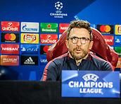 4th December 2017, Rome, Italy; AS Roma press conference ahead of the Champions league match versus FK Qarabag; coach Eusebio Di Francesco