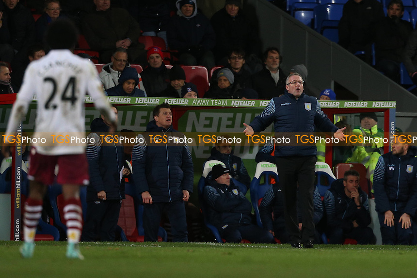 Aston Villa manager Paul Lambert - Crystal Palace vs Aston Villa - Barclays Premier League Football at Selhurst Park, London - 02/12/14 - MANDATORY CREDIT: Simon Roe/TGSPHOTO - Self billing applies where appropriate - contact@tgsphoto.co.uk - NO UNPAID USE