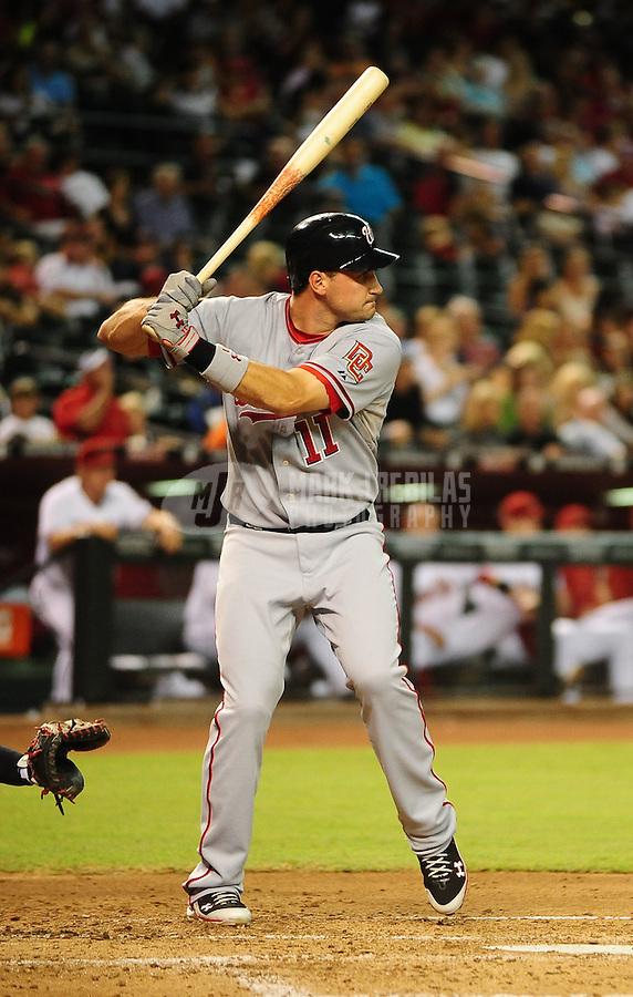 Aug. 3, 2010; Phoenix, AZ, USA; Washington Nationals third baseman (11) Ryan Zimmerman against the Arizona Diamondbacks at Chase Field. Mandatory Credit: Mark J. Rebilas-
