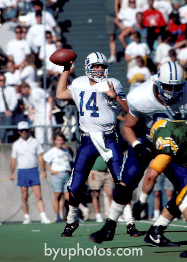 detmer 4<br /> <br /> 14 Ty Detmer<br /> <br /> Photo by Mark Philbrick/BYU<br /> <br /> &copy; BYU PHOTO 2009<br /> All Rights Reserved<br /> photo@byu.edu  (801)422-7322