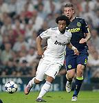 MADRID (15/(09/2010).- Champions League match Real Madrid vs Ajax Amsterdam. Marcelo and Toby Alderweireld...Photo: Cesar Cebolla / ALFAQUI